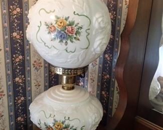GONE WITH THE WIND MILK GLASS LAMP