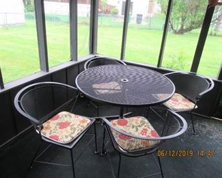 VINTAGE OUTDOOR TABLE AND CHAIR SET