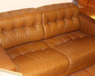 Mid Century Danish Leather Couches.