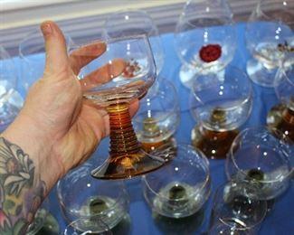 Mid Century Cocktail Glasses.
