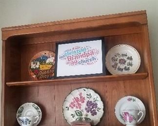 collector plates and lenox birds