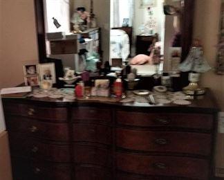 Mahogany vanity with bedroom set