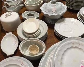 White Ironstone Serving Dishes.