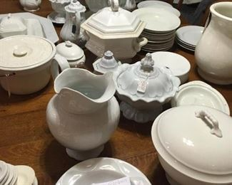 More White Ironstone Serving Dishes