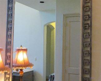 Greek key design mirror