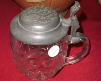 crystal stein with Pucsters  Park on lid