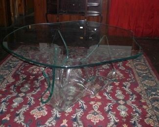 Laurel Fyfe Aurora glass dinning  dinning table with original top c.1980