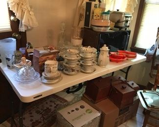 Misc china, glass ware, vintage baby dishes
