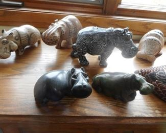 Hippos Onyx, Wood, Alabaster, Marble