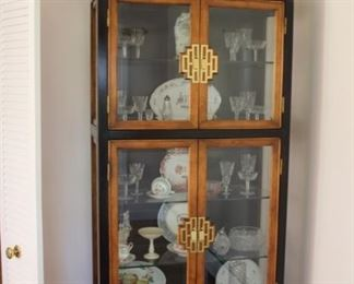 Henredon china cabinet, one of a pair