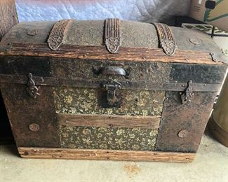 Antique Trunk - Treasures Await!