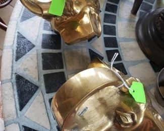 Solid Brass Elephant Heads