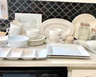 Lots of cool serving pieces