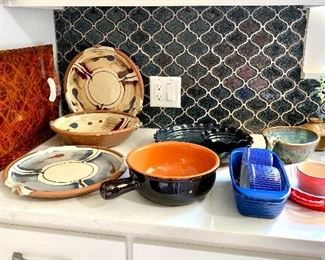 Exceptional pottery and kitchen where