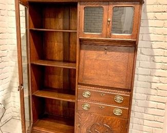 Exceptional antique secretary with bookcase Eastlake style