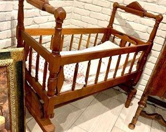 1836  eastlake baby bed .