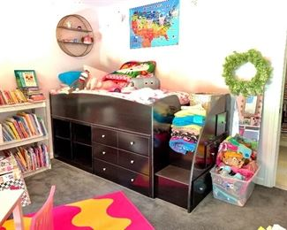 Like a new exceptional condition Childs twin bed with  Storage  Really good quality