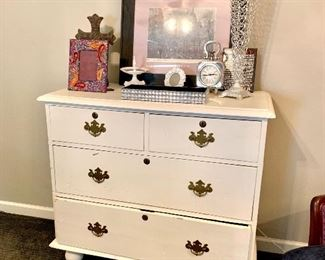 Shabby chic antique chest