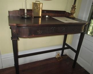 ANTIQUE ENTRY/LIBRARY TABLE