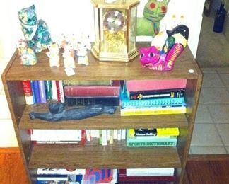 Bookshelf, cats