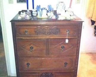 Matching antique chest of drawers