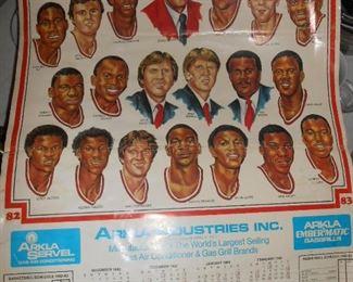 82-83 Razorback Basketball poster....SW conference
