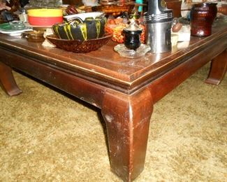 heavy coffee table....