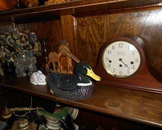 clock......cast Iron duck....