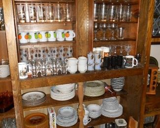 more glasses and dishes....