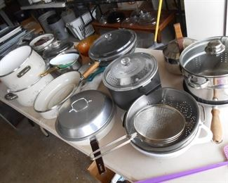 more pots and pans......