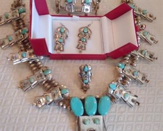 Exquisite Native American Silver Kachina Grouping(Large)