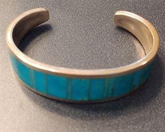 Manygoats Sterling Cuff Bracelet
