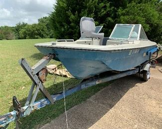 16 foot VIP Tri-hull boat and trailer with walk thru windshield.  70 HP  Johnson outboard.  MAKE US AN OFFER!