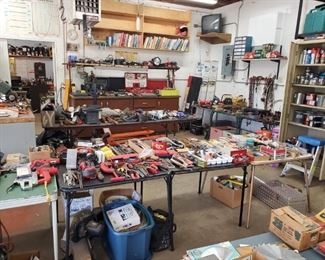 Loads and Loads of tools! An entire garage full! (and it's an extra large garage!)