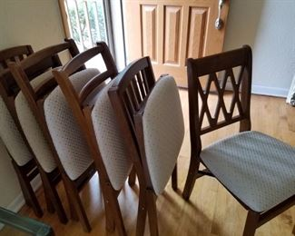 new cloth seat - wood frame folding dining room chairs