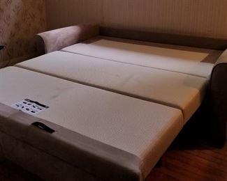 sleeper sofa open. good thicker mattress - comfortable