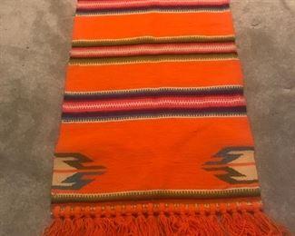 Colorful woven rug