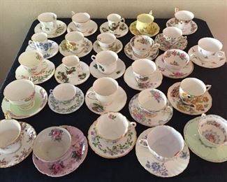 Collection of English Cups & Saucers-more available!