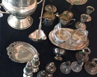 Sterling Silver Pieces & Silver Plated Items