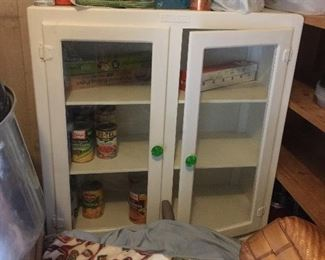 Vintage canned goods cabinet