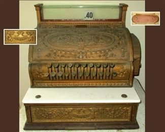 Antique National Cash Register, So Ornate, Beautiful and Heavy