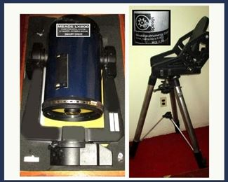 Powerful Meade 10 Inch 2500mm LX 200 Smart Drive Telescope with Meade Stand. Comes with Wooden Storage Box