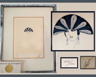 Signed and Numbered Erte Lithograph with COA