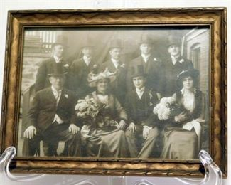 Antique picture of L. J. Noonan and family.  From the estate of L. J. Noonan from Connecticut. FABULOUS PICTURE OF MEN WITH TOP HATS.
