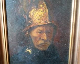Conquistador - antique oil painting