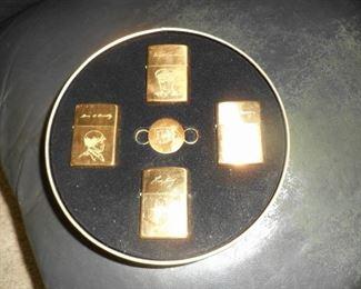 """Zippo WWII """"Generals"""" lighter set in original metal tin"""