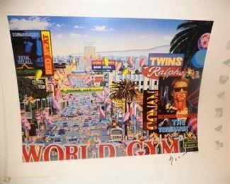 """Yamagata  print """"World Gym"""" signed"""