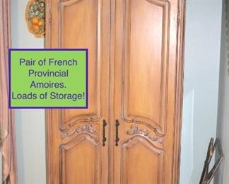 2 Armoires, all in a lighter more current style, French Provincial look