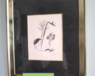 Chagall Signed Lithograph