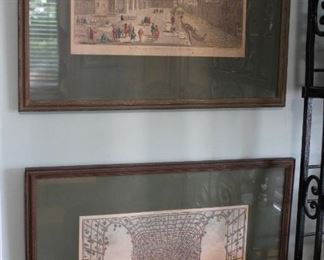Etchings and Vintage Oils